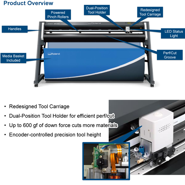 GR420 - 42in CAMM-1 Pro Vinyl Cutter with stand - Wensco Sign Supply