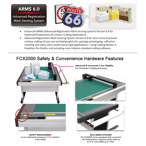 FCX2000180VC - Graphtec 68 5in x 36in Flatbed Cutter