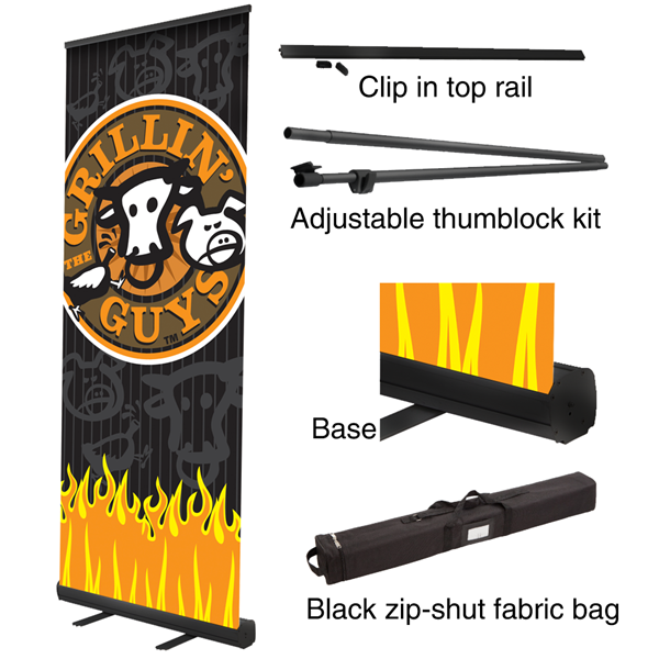 Wensco Banner Stands Retractable Black Bs2 We don't know when or if this item will be back in stock. wensco sign supply