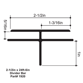 2-1/2in x 24ft-6in Signcomp Divider Bar