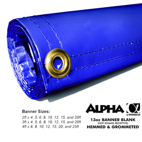 3ftx6ft 13oz Blue Banner - Alpha