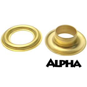 Alpha #2 Brass Grommets - 500/bag