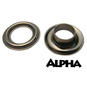 Alpha #2 Black Nickel Grommets - 500/bag