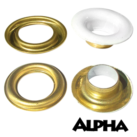 Alpha #2 White Faced Grommets - 500/bag