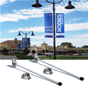3DA 24in Boulevard Banner Pole Set