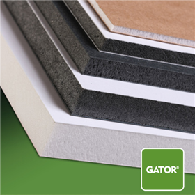 Gatorfoam 5ftx10ftx3/16in Wh/Bk/Wh