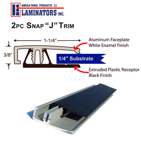 Laminators 2pc Snap J Trim 10ft White
