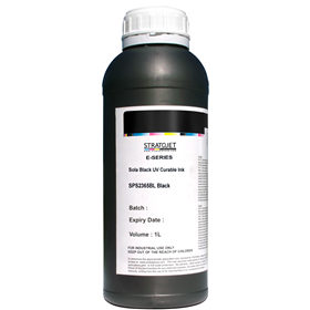 Sola Black E-Series UV Curable Ink-1Ltr