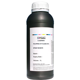 Sola White E-Series UV Curable Ink-1 Ltr