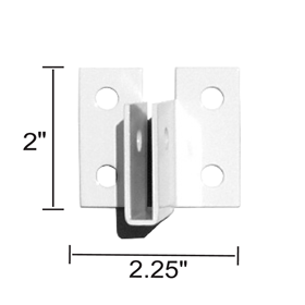 Sooper 1/4in Alum U-Bracket White