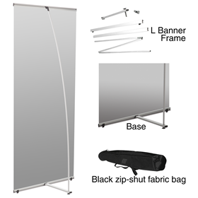DWLDL  L Banner Stand/SILVER