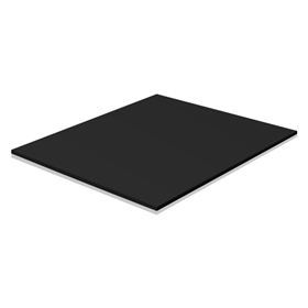 S6bk Sintra Pvc 4ftx8ftx6mm Black Wensco Sign Supply