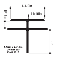 1-1/2in x 24ft-6in SignComp Divider Bar