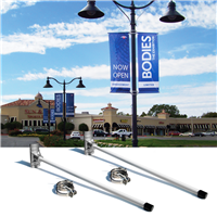 3DA 30in Premium Blvd Banner Pole Set