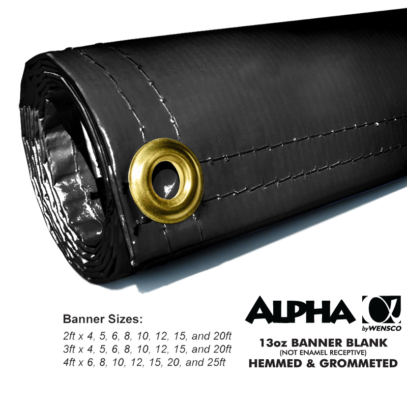 Black Alpha Banner Blanks Results Page 1 Wensco Sign Supply