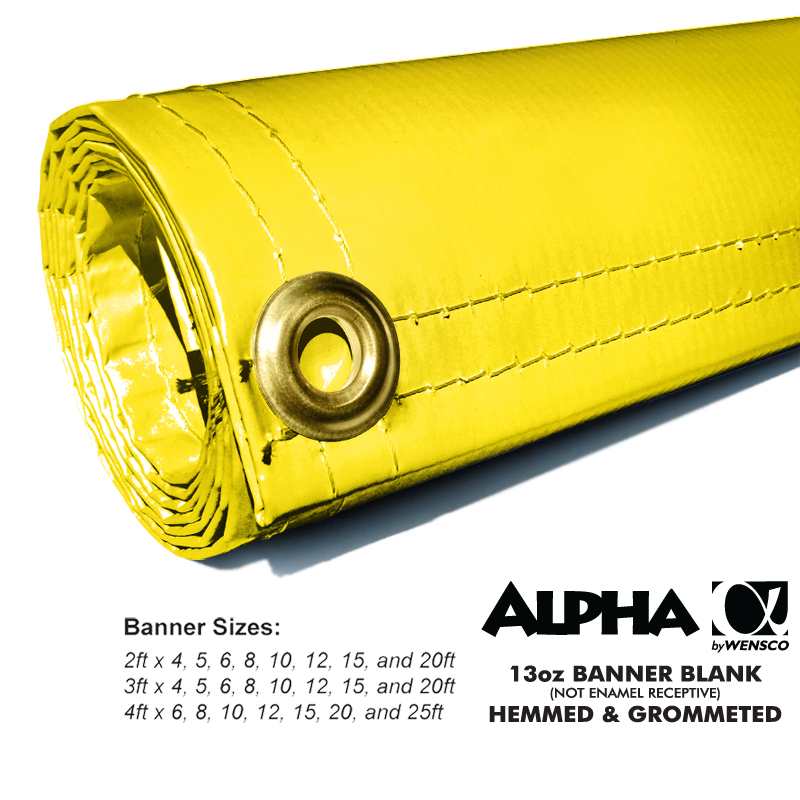 Yellow Alpha Banner Blanks Results Page 2 Wensco Sign