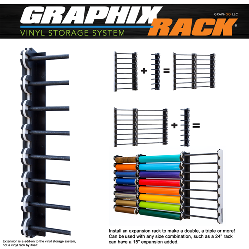 Pvc Storage System : Expansion graphixrack vinyl storage system discontinued