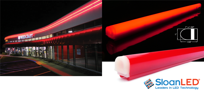 Border Tubing Ledstripe Sloanled 24 Vdc Red Discontinued Huge Price Reduction